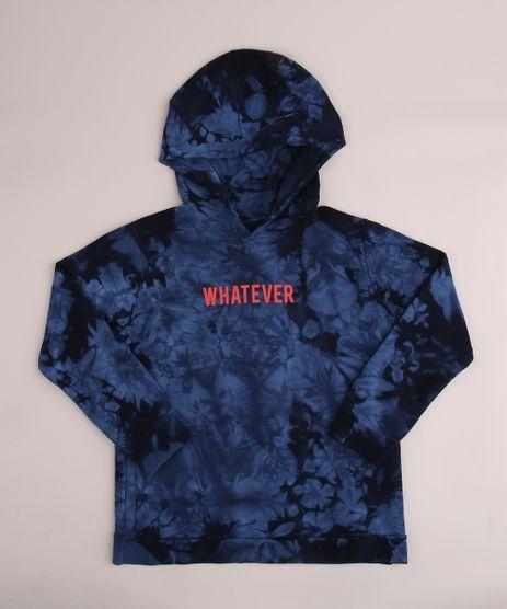 Blusao-de-Moletom-Juvenil--Whatever--Estampado-Tie-Dye-com-Capuz-Azul-Escuro-9960374-Azul_Escuro_1