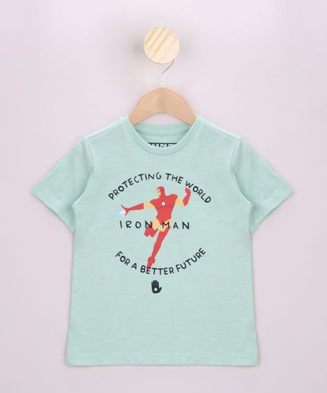 Camiseta-Infantil-Homem-de-Ferro-Manga-Curta-Verde-Claro-9962476-Verde_Claro_1
