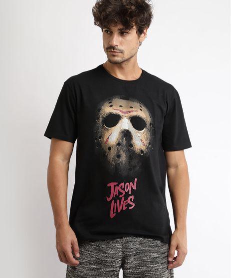 Camiseta-Masculina--Jason-Lives--Manga-Curta-Gola-Careca-Preta-9959805-Preto_1