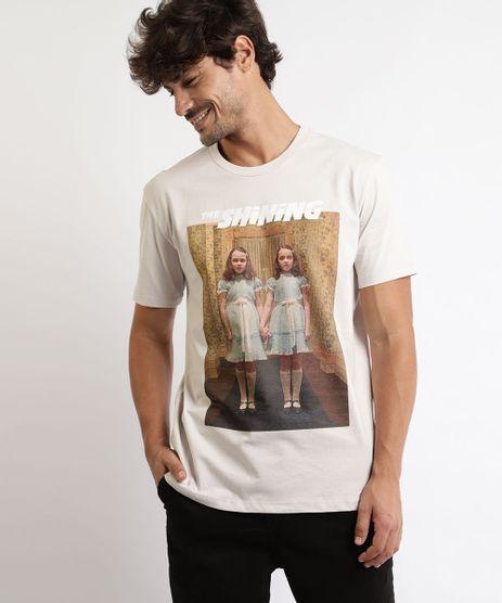 Camiseta-Masculina-O-Iluminado-Manga-Curta-Gola-Careca-Bege-9959817-Bege_1