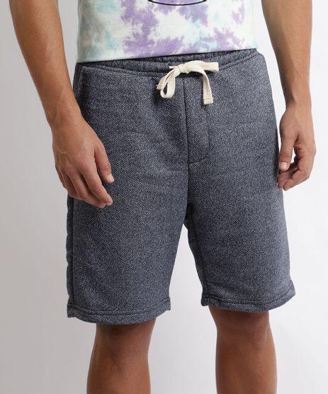 Bermuda-Jeans-Masculina-de-Moletom-Relaxed-com-Bolsos-Azul-Medio-9969043-Azul_Medio_1