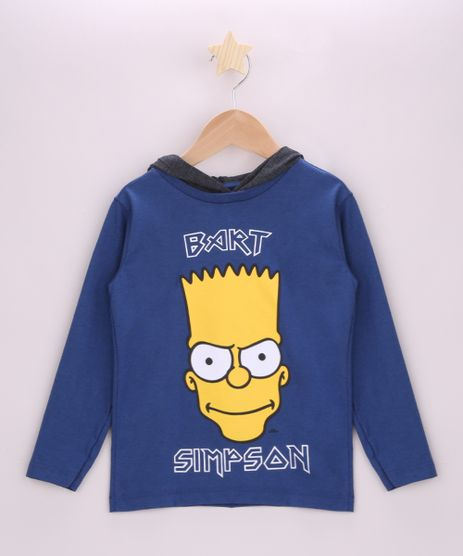 Camiseta-Infantil-Bart-Simpsons-Manga-Longa-com-Capuz-Azul-9944177-Azul_1