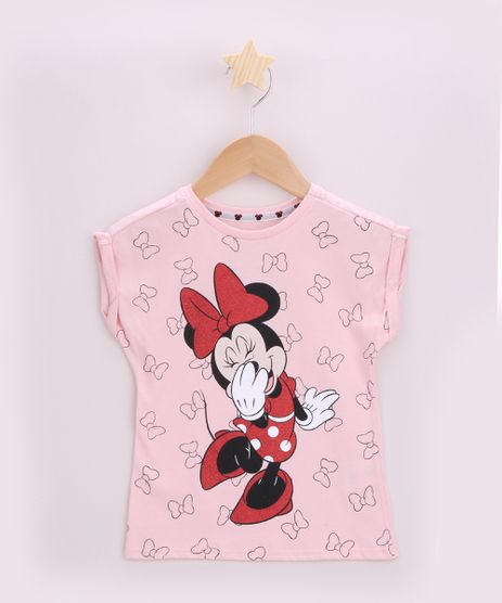 Blusa-Infantil-Minnie-com-Brilho-Manga-Curta-Dobrada-Rosa-9953535-Rosa_1