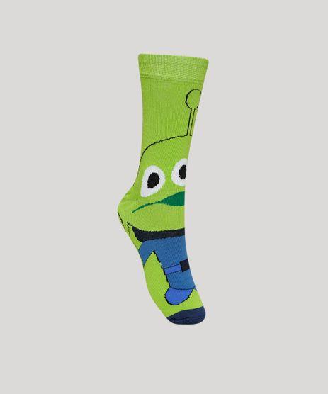 Meia-Masculina-Toy-Story-Alien-Cano-Alto-Verde-9957616-Verde_1
