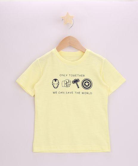 Camiseta-Infantil-Os-Vingadores-Manga-Curta-Amarela-9962473-Amarelo_1