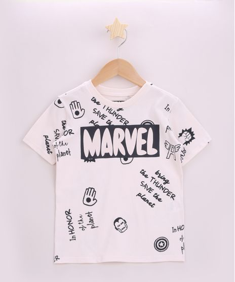Camiseta-Infantil-Os-Vingadores-Manga-Curta-Bege-9962475-Bege_1