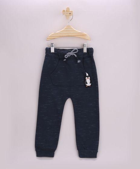 Calca-de-Moletom-Infantil-Pinguim-com-Bolso-Canguru-Azul-Marinho-9789308-Azul_Marinho_1