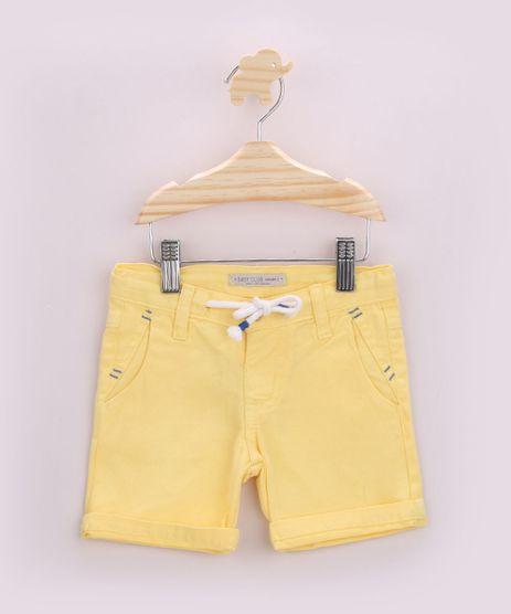 Short-de-Sarja-Infantil-com-Bolsos-Amarelo-9953489-Amarelo_1