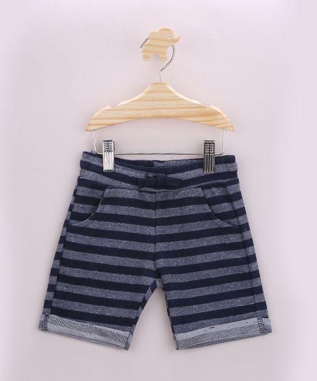 Short-Infantil-Listrado-com-Bolsos-Azul-9956335-Azul_1