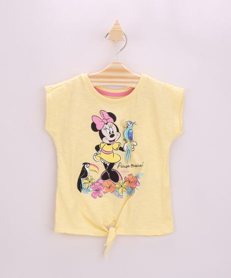 Blusa-Infantil-Minnie-com-No-Manga-Curta-Amarela-9955744-Amarelo_1