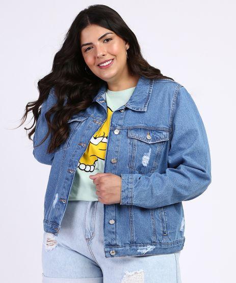 Jaqueta-Jeans-Feminina-Plus-Size-Destroyed-Azul-Medio-9966755-Azul_Medio_1