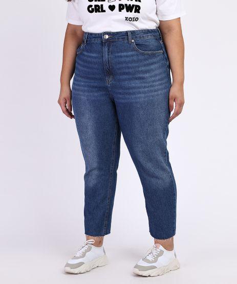 Calca-Jeans-Feminina-Plus-Size-Reta-Cigarrete-Cintura-Alta-Azul-Escuro-9968946-Azul_Escuro_1