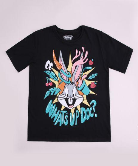 Camiseta-Juvenil-Looney-Tunes-Manga-Curta-Preta-9962347-Preto_1