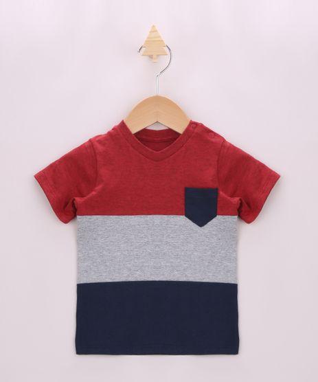Camiseta-Infantil-com-Recortes-e-Bolso-Manga-Curta-Vermelha-9957227-Vermelho_1