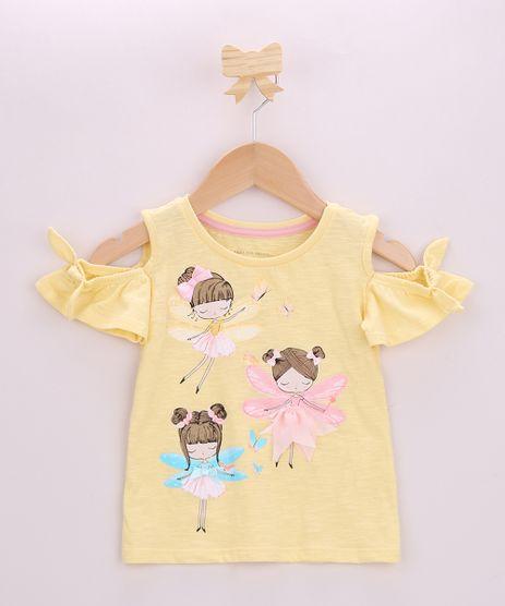 Blusa-Infantil-Open-Shoulder-Fadinhas-com-Laco-Manga-Curta-Amarela-9955752-Amarelo_1