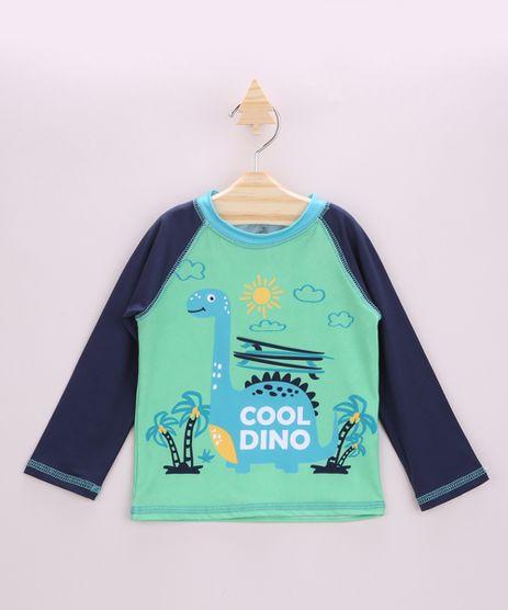 Camiseta-de-Praia-Infantil-Raglan-Dinossauro-Manga-Longa-com-Protecao-UV50--Verde-Claro-9902367-Verde_Claro_1