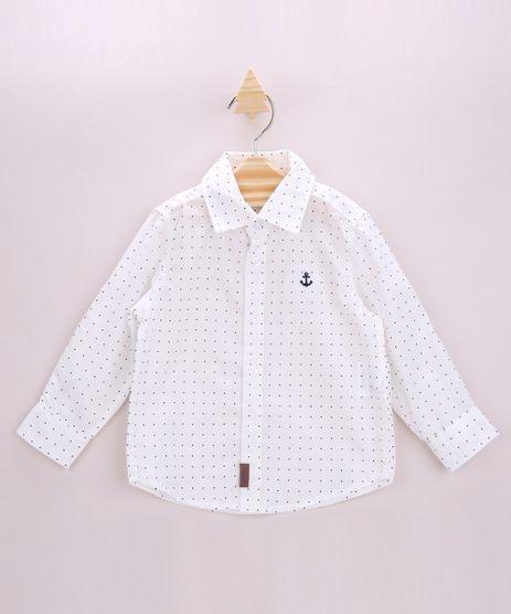 Camisa-Infantil-Estampada-de-Poa-com-Bordado-Manga-Longa-Branca-9947821-Branco_1