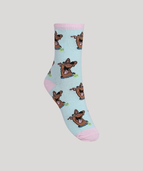Meia-Feminina-Scooby-Doo-Cano-Alto-Verde-Claro-9964953-Verde_Claro_1