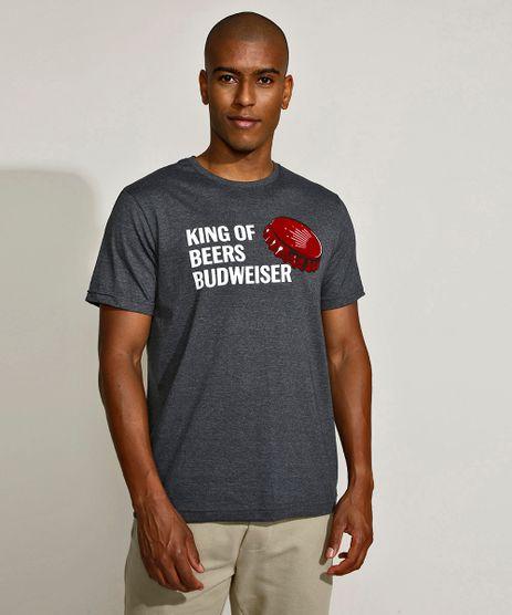 Camiseta-Masculina-Basica-Budweiser-Manga-Curta-Gola-Careca-Cinza-Mescla-Escuro-9956465-Cinza_Mescla_Escuro_1