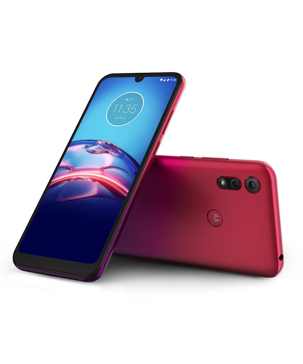 Smartphone Motorola XT2053 Moto E6S 64GB Vermelho Magenta