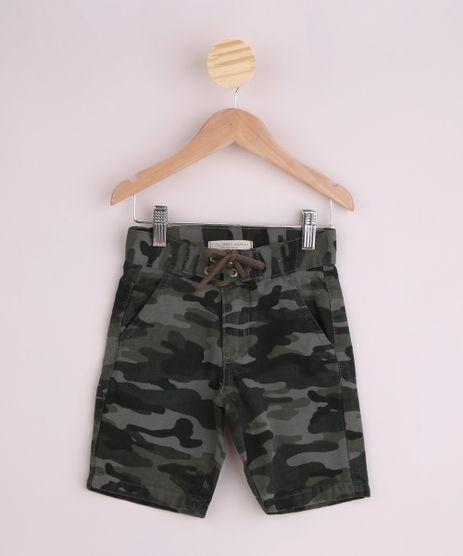 Bermuda-de-Sarja-Infantil-Slim-Estampada-Camuflada-com-Bolsos-Verde-Militar-9953659-Verde_Militar_1