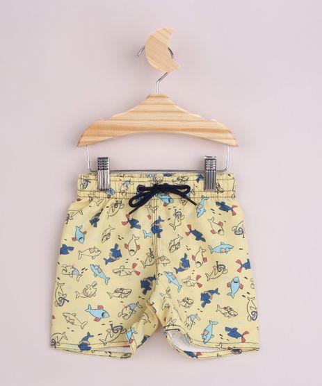 Short-Infantil-Surf-Estampado-de-Tubaroes-Cos-com-Cordao-Amarelo-9960860-Amarelo_1