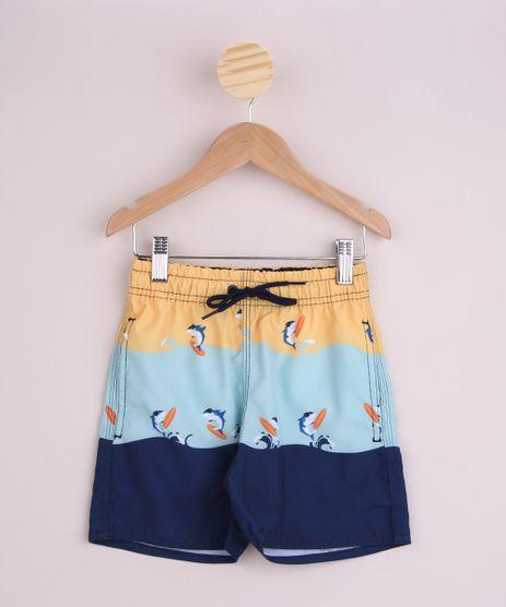 Bermuda-Infantil-Surf-Estampada-de-Tubaroes-com-Bolsos-Cos-com-Elastico-Azul-Marinho-9962794-Azul_Marinho_1