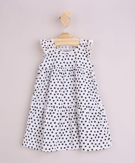 Vestido-Infantil-Estampado-de-Poa-com-Babado-Sem-Manga-Off-White-9970150-Off_White_1