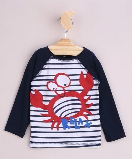Camiseta-de-Praia-Infantil-Estampada-Listrada-e-Caranguejo-Manga-Longa-Raglan-Azul-Marinho-9964872-Azul_Marinho_1