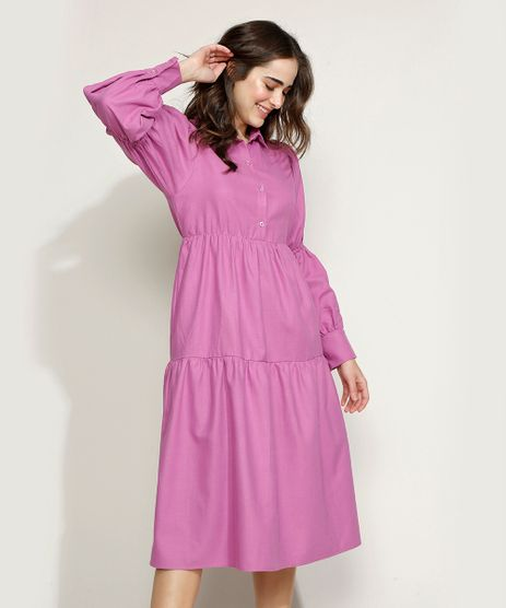 Vestido-Feminino-Mindset-Midi-com-Recortes-Manga-Bufante-Roxo-9970763-Roxo_1