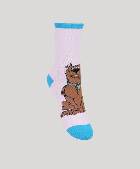 Par-de-Meia-Feminino-Scooby-Doo-Cano-Alto-Rosa-9964958-Rosa_1