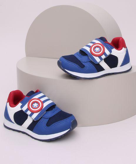 Tenis-Infantil-Capitao-America-com-Tira-e-Velcro-Azul-9964211-Azul_1