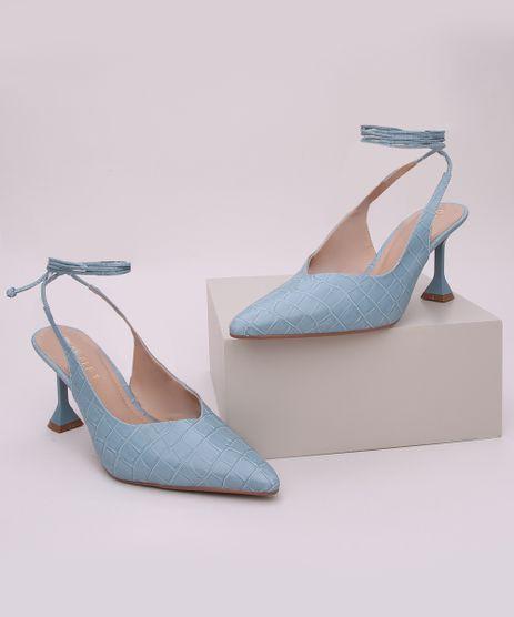 Scarpim-Feminino-Oneself-Salto-Medio-Taca-Bico-Fino-Croco-e-Tira-para-Amarrar-Azul-9964267-Azul_1