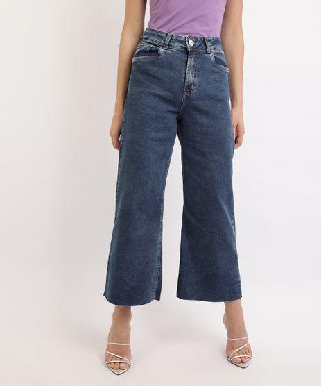 Calca-Jeans-Feminina-Mindset-Wide-Cropped-Cintura-Alta-Azul-Escuro-9967372-Azul_Escuro_1