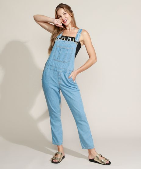 Macacao-Jeans-Feminino-Cropped-Relaxed-com-Bolsos-Azul-Claro-9963959-Azul_Claro_1
