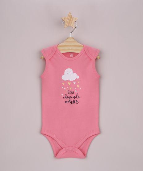 Body-Infantil-Nuvem--esta-chovendo-amor--Sem-Manga-Rosa-9845112-Rosa_1