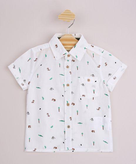 Camisa-Infantil-Estampada-Animais-e-Coqueiros-com-Bolso-Manga-Curta-Off-White-9947286-Off_White_1