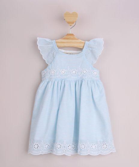 Vestido-Infantil-Estampado-Listrado-com-Babado-e-Bordado-Manga-Curta-Azul-Claro-9948094-Azul_Claro_1