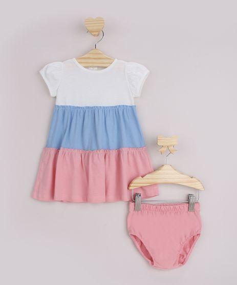 Vestido-Infantil-com-Recortes-e-Babado-Manga-Curta---Calcinha-Off-White-9951871-Off_White_1