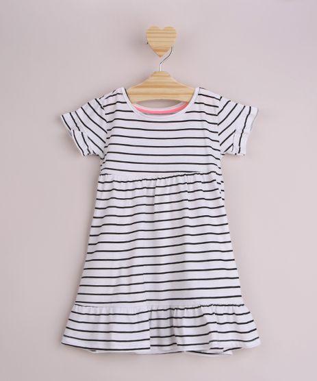 Vestido-Infantil-Estampado-Listrado-com-Babado-Manga-Curta-Off-White-9958891-Off_White_1