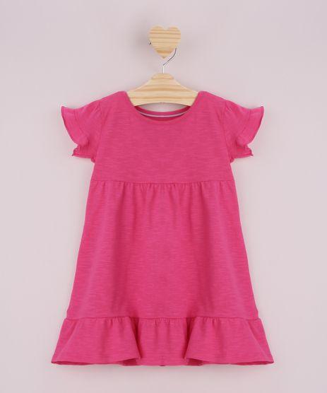 Vestido-Infantil-Flame-com-Babado-Manga-Curta-Pink-9958892-Pink_1