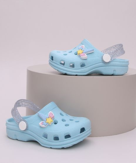 Babuche-Infantil-Unicornio-com-Glitter-Azul-9960956-Azul_1