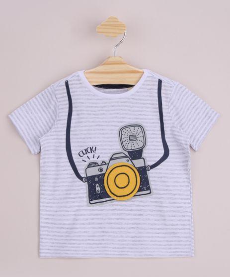 Camiseta-Infantil-Estampada-Listrada-Interativa-com-Camera-Fotografica-Manga-Curta-Branca-9963411-Branco_1