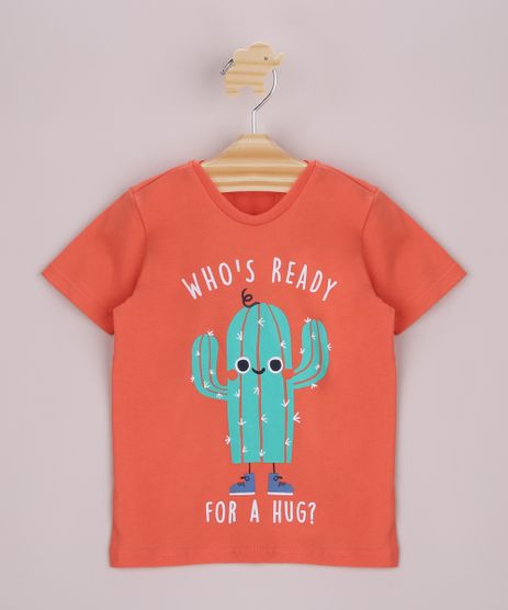 Camisa-Infantil-Cactos-Manga-Curta-Laranja-9963737-Laranja_1