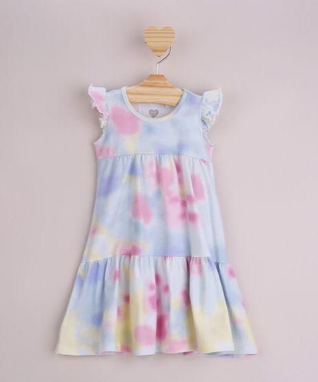 Vestido-Infantil-Estampado-Tie-Dye-com-Babado-Sem-Manga-Multicor-9964026-Multicor_1