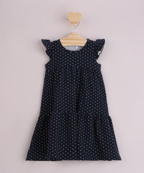 Vestido-Infantil-Estampado-de-Poa-com-Babado-Sem-Manga-Azul-Marinho-9964029-Azul_Marinho_1