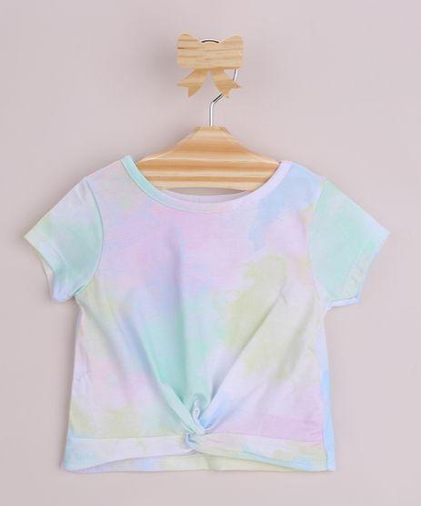 Blusa-Infantil-Estampada-Tie-Dye-com-No-Manga-Curta-Multicor-9966107-Multicor_1