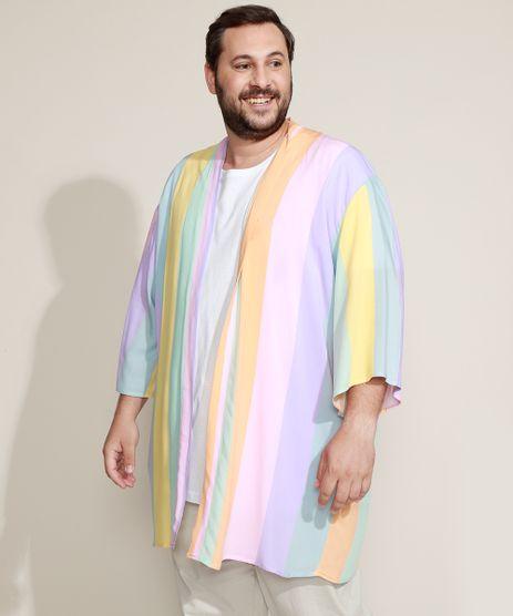 Kimono-Masculino-Plus-Size-Pride-Listrado-Multicor-9948545-Multicor_1