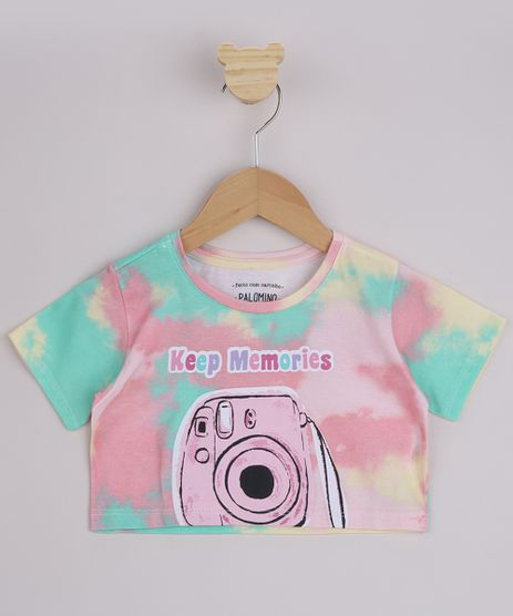 Blusa-Infantil-Cropped-Estampada-Tie-Dye--Keep-Memories--Manga-Curta-Multicor-9956264-Multicor_1