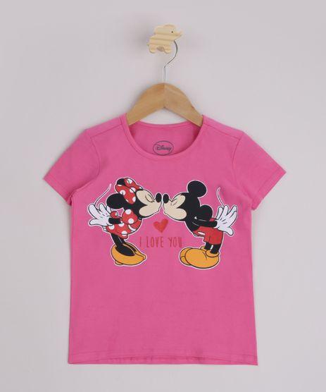 Blusa-Infantil-Minnie-e-Mickey-Manga-Curta-Pink-9954806-Pink_1
